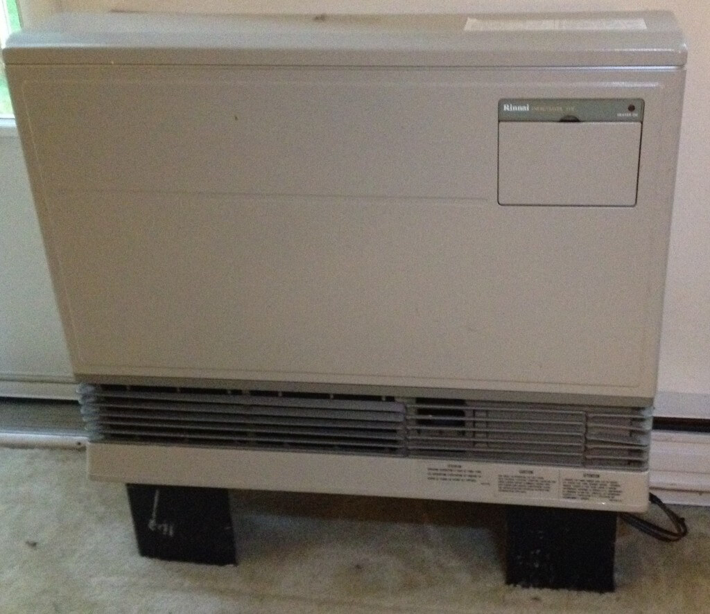The new heater, a Rinnai  Energy Saver-551F